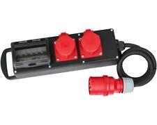 CEE Stromverteiler Vollgummi Baustromverteiler 32A / 400V zu 2x16A