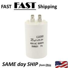 25uF 450VAC AC Capacitor for Washing Machine - 25 micro farad replacement