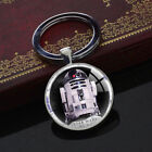 Star Wars R2D2 Keychains Unique Pendant Party Gift Key Chain Silver Keyring Ring