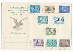 Ascension Island QEII FDC with 23/05/1963 postmark as displayed.