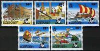 Guernsey 1992, Operation Asterix set VF MNH, Mi 568-72 cat 5,5€