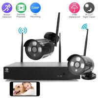 Wireless 4CH 1080P HD NVR Wifi 2PCS 720P Outdoor IR-CUT Camera Security System