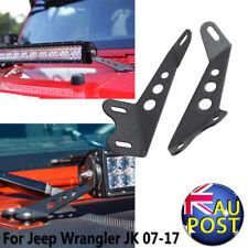 22'' LED Work Light Bar Hood Mount Brackets For 07-17 Jeep Wrangler JK Driving
