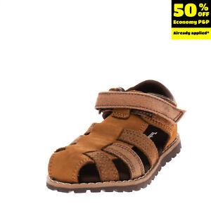 TIMBERLAND Kids Leather & Canvas Fisherman Sandals Size 23 UK 6 US 6.5 Lug Sole