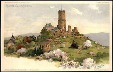 TOP Künstler-AK sign. F. REISS - RUINE GODESBERG - Freytags Kunstblätter ~ 1900