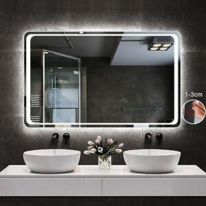Wandspiegel Infrarot-Sensor BESCHLAGFREI Badspiegel LED Spiegel Kaltweiß 50-100