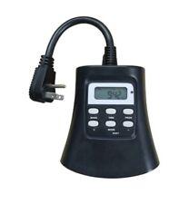 Utilitech 0149289 Outdoor 3 Outlet Digital Photocell Timer (H2)