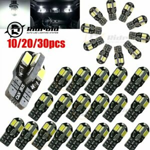 10~40PCS Canbus T10 194 168 W5W 5730 8 LED SMD White Car Side Wedge Light Lamp