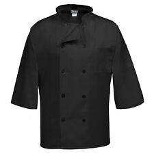 New Listingfame Classic 10 Button Three Quarter Sleeve Chef Coat C10p 34 3xl Black