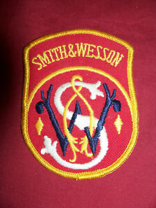 Old S&W Smith and Wesson Patch Shooting Range Gun Pistol Cap Hat Jacket Vest 357