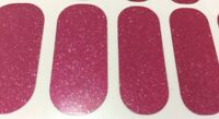 Jamberry Nail Wraps- Fierce Fuchsia Pink Glitter Sparkle on Classic, Half Sheet