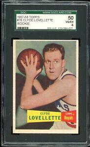 1957 Topps Basketball #78 Clyde Lovellette SGC 4