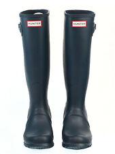 Hunter Women's Original Tall Rubber Rain Boots - Navy - Size US 7 UK 5