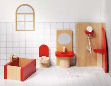 Puppenhausmöbel BADEZIMMER Bad Dusche Toilette WC Puppenhaus Puppenstube Holz