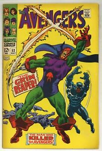 Avengers 52 Marvel Comics 1968 BLACK PANTHER joins! 1st GRIM REAPER! (j#5852)