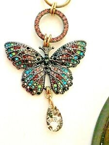 Betsey Johnson Butterfly Necklace Set With Tags
