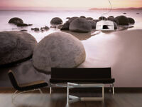 Giant photo wallpaper 366x254cm Giant Round stones on the beach Wall Mural decor