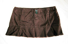 "Short Brown Mini Skirt, Beachwear, Surfer, Size 12, M, 32"" Waist, 11"" Long"