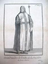 RELIGION GRAND MAITRE ORDRE DE LA PASSION GRAVURE 1838