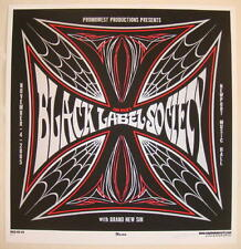 2005 Black Label Society - Silkscreen Concert Poster s/n by Martin