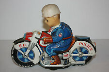 Tin Motorcycle Toy  Haji P.D. Cycle No.7 made in Japan in 1960's