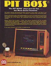 MERIT PIT BOSS VIDEO GAME COUNTERTOP ORIGINAL ARCADE  SALES FLYER BROCHURE 1983