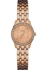 Guess Women Dress,Stainless Steel,Rose Gold-Tone Crystal Accented Bezel W0762L3