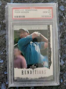 2003 U.D. Renditions Tiger Woods #1 PSA 10 POP 15!! RARE