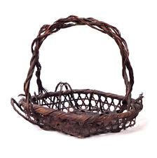 "Antique 1909 Japanese Ikebana Woven Basket 9.75"""