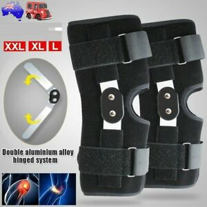 Adjustable Double Metal Hinged Knee Brace Support Protection Arthritis Sport Gym