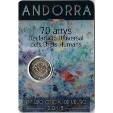 2 Euros Commémorative Andorre 2018 '' Droits de l'Homme '' Coincard BU
