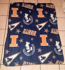 Disney NCAA Illinois Illini 40x50-Inch Northwest polyester blanket Throw