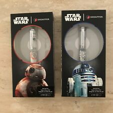 Star Wars Sheaffer Rollerball Pens BB8 and R2D2 New In Sealed Boxes