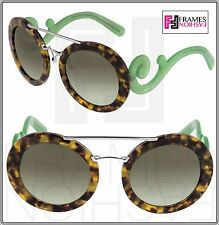 PRADA BAROQUE EVOLUTION Oversized PR13SS Brown Green Translucent 13S Sunglasses