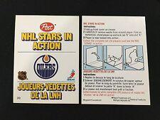 EDMONTON OILERS 1980 ODD BALL POST NHL STARS IN ACTION FOLDING HOCKEY CARD
