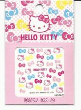 Sanrio Hello Kitty Nail Stickers Seals Bows and Faces