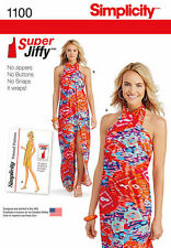 Simplicity 1100 Retro 70's Jiffy Halter Dress or Cover Up Pattern Sz 4-26
