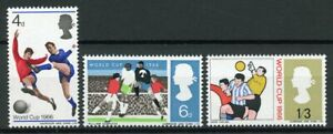 GB 1966 MNH World Cup Football 3v Set Soccer Sports Stamps