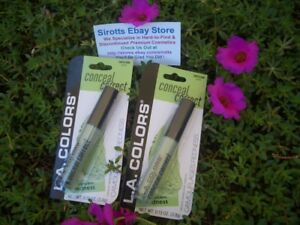 2 L.A. COLORS CONCEAL CORRECT CONCEALER CORRECTS REDNESS ON SKIN #CBCS386 GREEN
