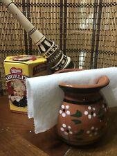 Jarrito Servilletero de barro Terracotta Clay Pottery Napkin Holder Mexican Hand