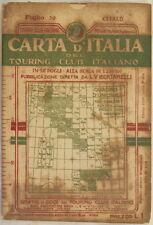 CARTA D'ITALIA TOURING CLUB ITALIANO CEFALU TERMINI NICOSIA PETRALIA SICILIA 910