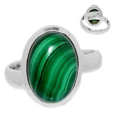 Adjustable Ring - Malachite 925 Sterling Silver ring Jewelry s.6.5 MALR1419