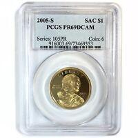 2005-S United States Native American Sacagawea Dollar - PCGS PR69DCAM
