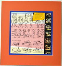 FLINTSTONES MODEL SHEET COLLAGE PRINT PRO MATTED Hanna Barbera Pebbles Bamm Bamm