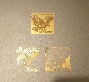 Warranty Hologram Square Void Tamper Proof Labels Security Seal Stickers 18mm UK