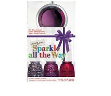 "CHINA GLAZE NAIL POLISH LACQUER 4 PACK ""SPARKLE ALL THE WAY"" SALON QUALITY"