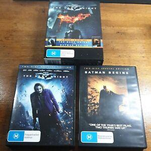 The Dark Knight and Batman Begins DVD Box Set R4  Like New! FREE POST