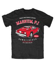 Magnum P.I. Car Tshirt , Tom Selleck,TV Hawaii , Island Hoppers,Aloha,80er,Kult