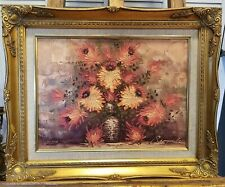 """Beautiful RISPOLI Oil Painting on Canvas Floral 21""""x 17"""""""