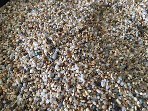 Fish Tank Aquarium Natural Pea Gravel Stones Substrate 3/4mm fine Top quality